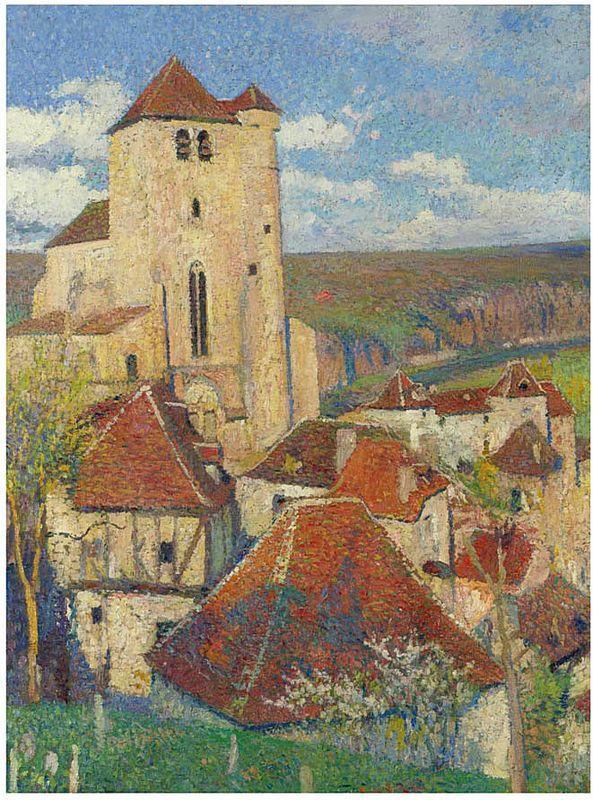 The Village Saint Cirq Lapopie - Henri Martin