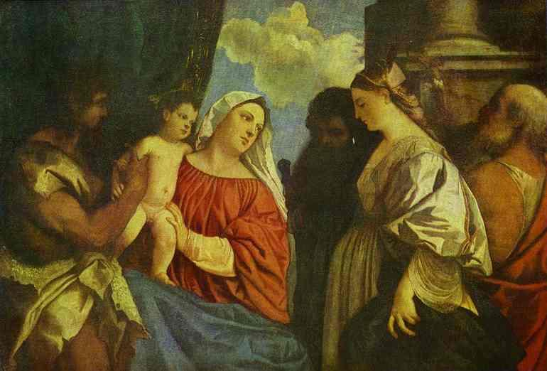 The Virgin and Child with Four Saints - Titian