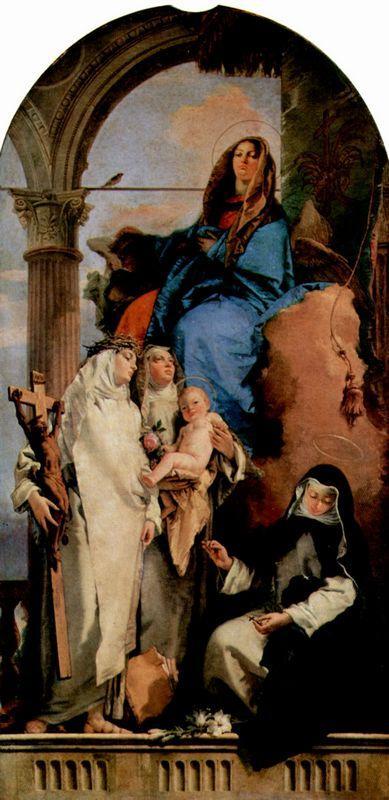 The Virgin Appearing to Dominican Saints - Giovanni Battista Tiepolo