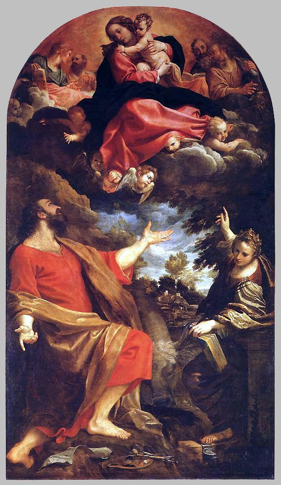 The Virgin Appears to St. Luke and Catherine - Annibale Carracci