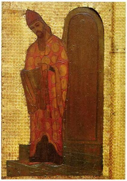 The Virgin Holidays. Introduction of the Virgin in Temple. The high priest Zechariah - Nicholas Roerich