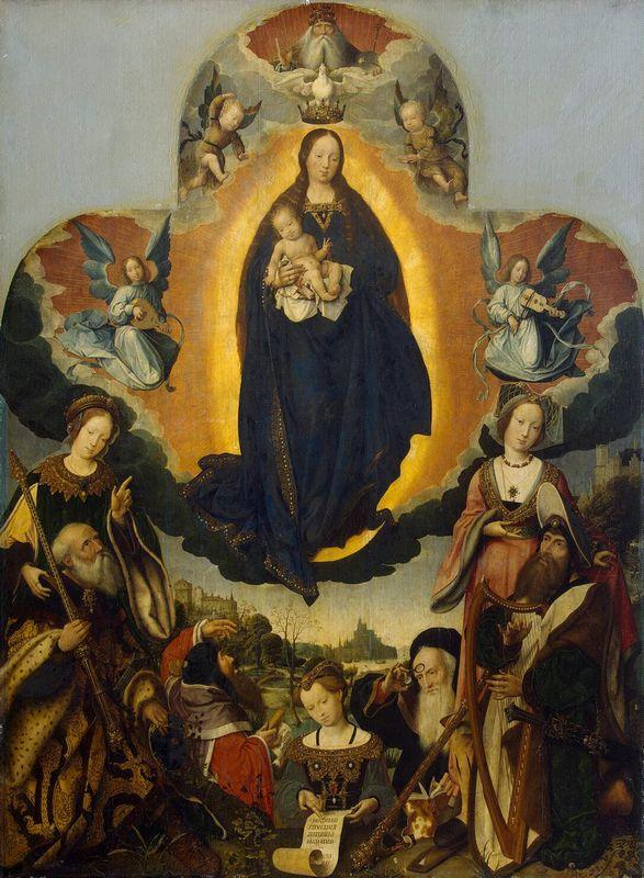 The Virgin Mary in Glory - Jan Provoost
