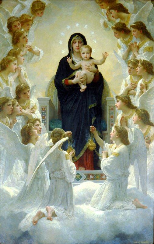 The Virgin with Angels - William-Adolphe Bouguereau