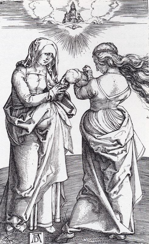 The virgin With The Infant Christ And St. Anne - Albrecht Durer