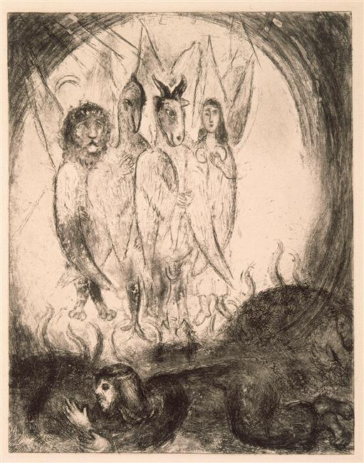 The Vision of Ezekiel (Ezekiel, I, 4-14) - Marc Chagall