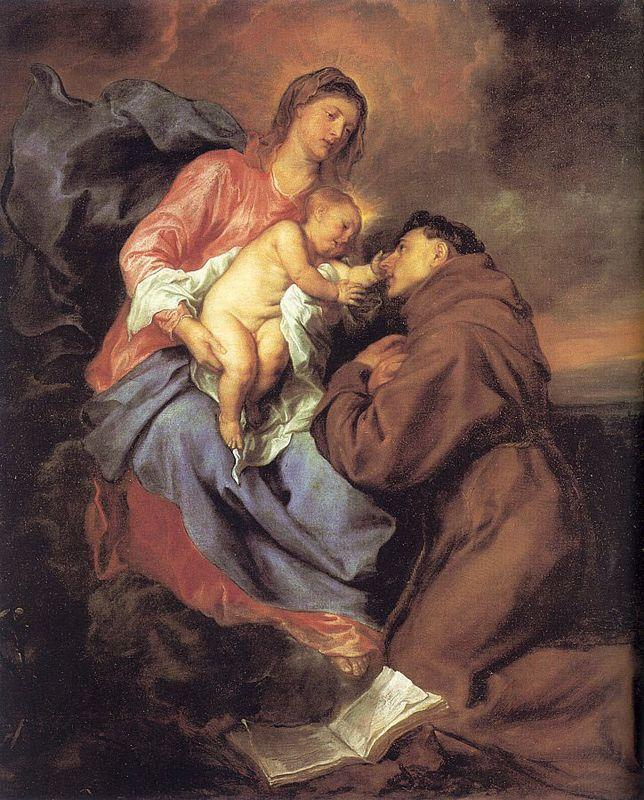 The Vision of St Anthony - Anthony van Dyck
