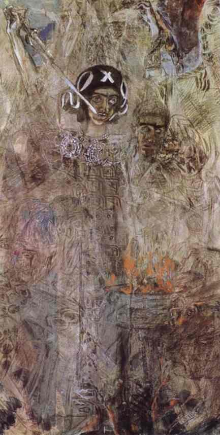 The Vision of the Prophet Ezekiel - Mikhail Vrubel