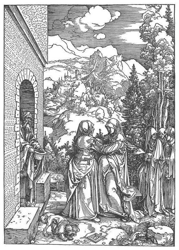 The Visitation - Albrecht Durer