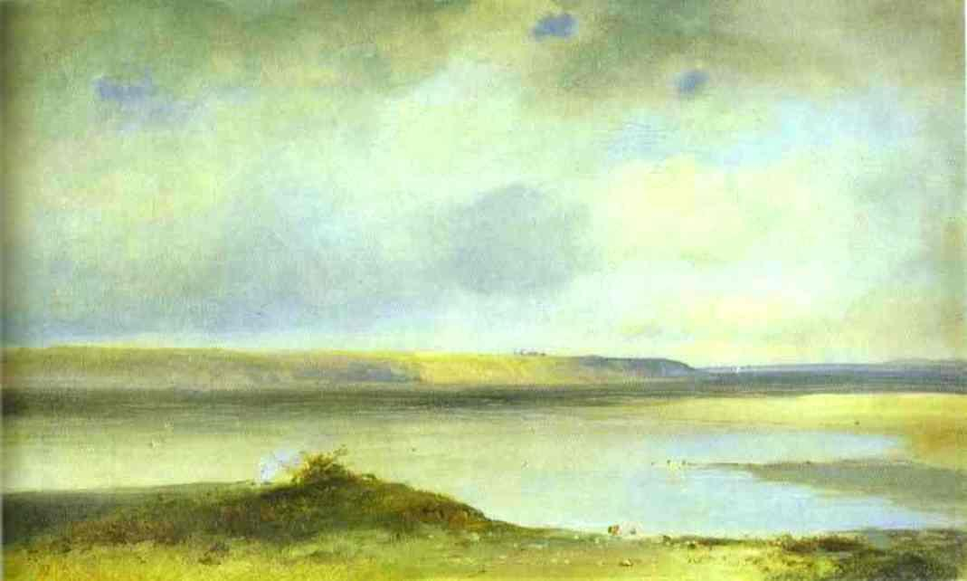 The Volga River. Vistas - Aleksey Savrasov