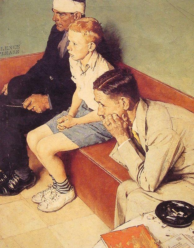 The Waiting Room - Norman Rockwell