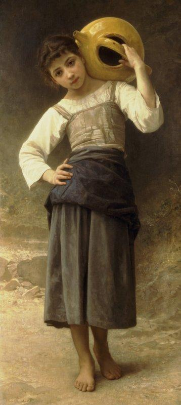 The Water Girl (Young Girl Going to the Spring) - William-Adolphe Bouguereau