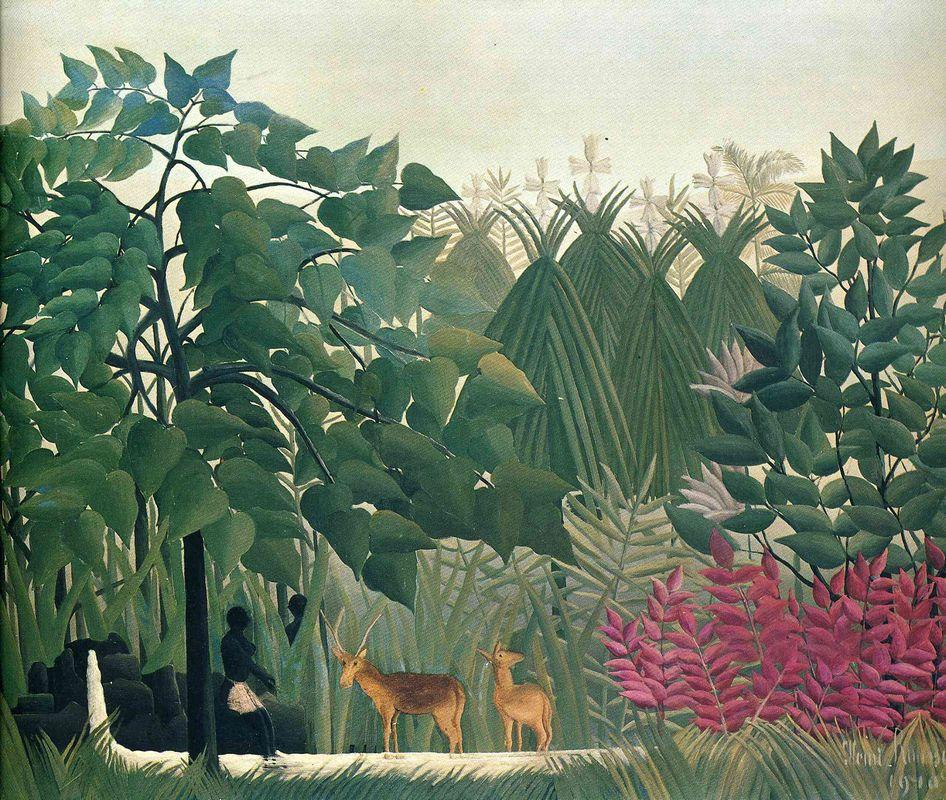 The Waterfall - Henri Rousseau