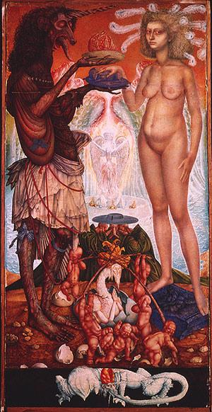 THE WEDDING OF THE UNICHORN - Ernst Fuchs