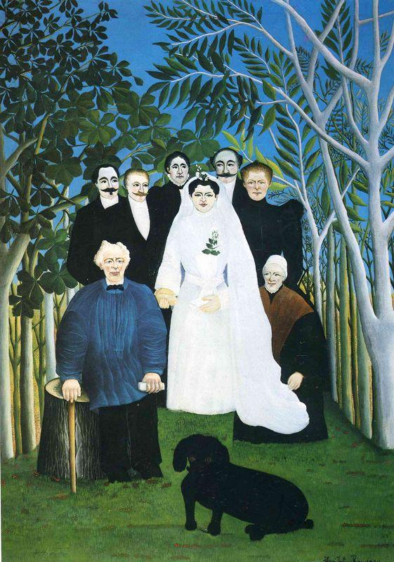 The wedding party  - Henri Rousseau