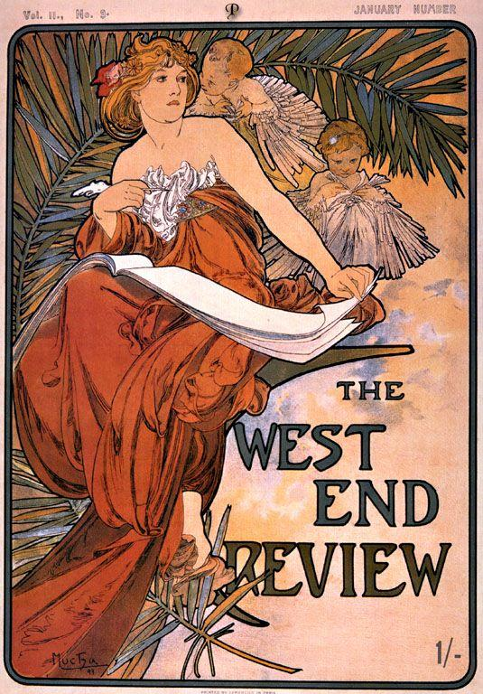 The west end review - Alphonse Mucha
