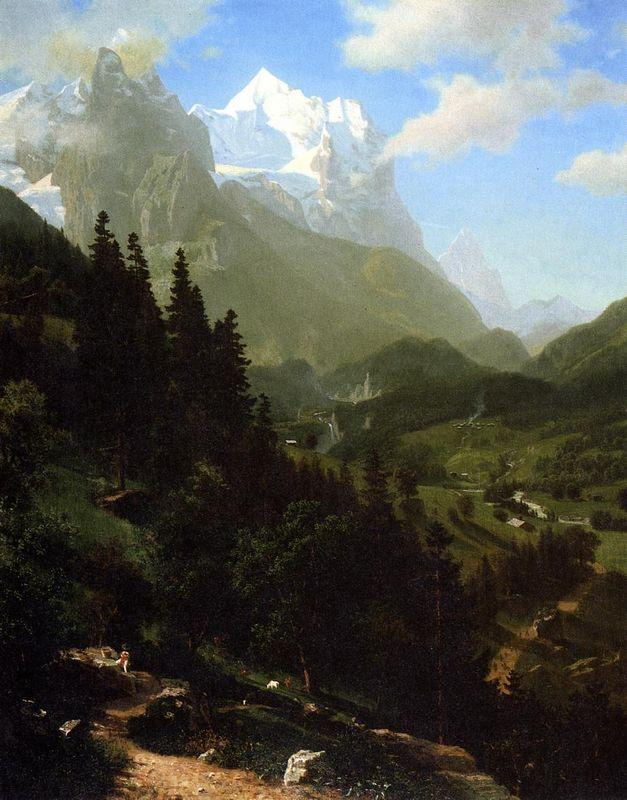 The Wetterhorn - Albert Bierstadt