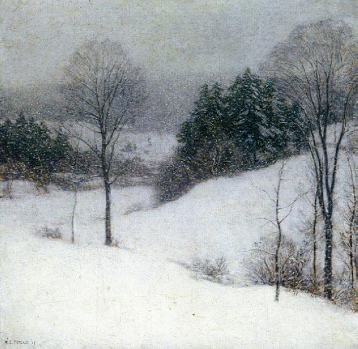 The White Veil - Willard Metcalf