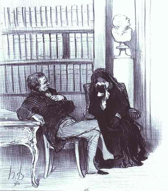 The Widow at a Consultation - Honore Daumier