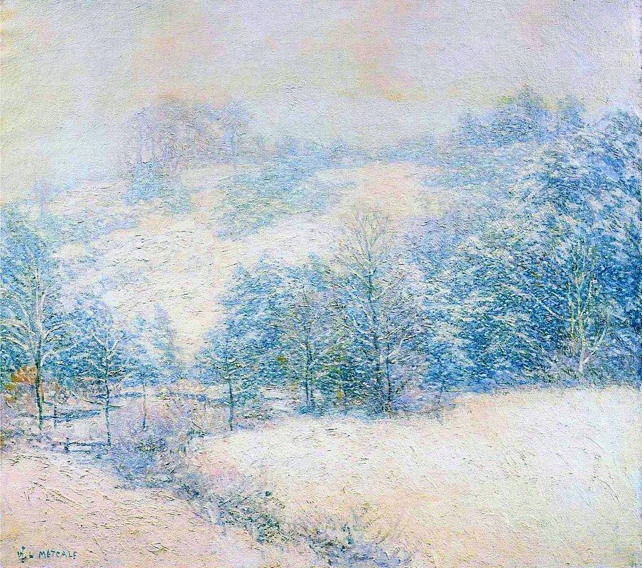 The Winter's Festival - Willard Metcalf