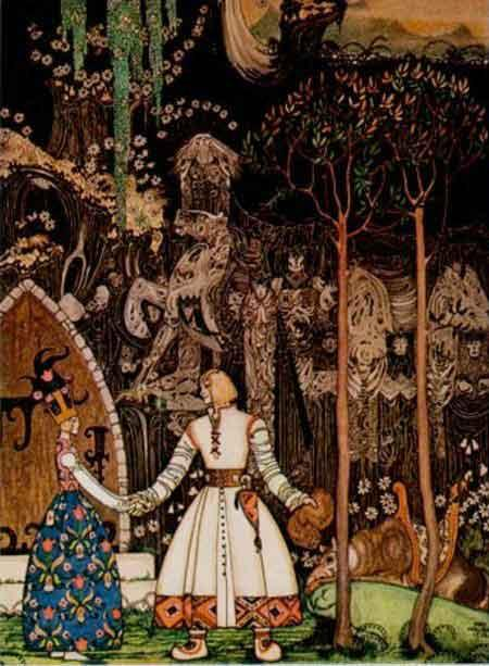 The Wolf is Waiting - Kay Nielsen