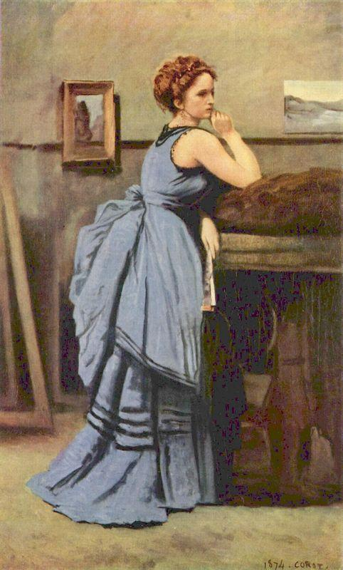 The Woman in Blue - Camille Corot