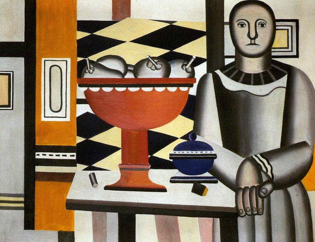 The Woman with the fruit dish - Fernand Leger