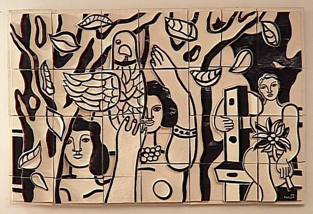 The worker sitting - Fernand Leger