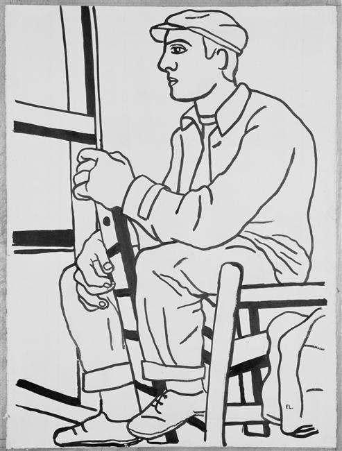The workman sitting  - Fernand Leger