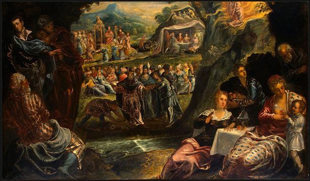 The Worship of the Golden Calf - Tintoretto
