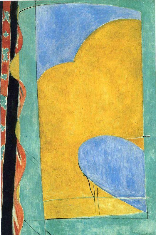The Yellow Curtain  - Henri Matisse