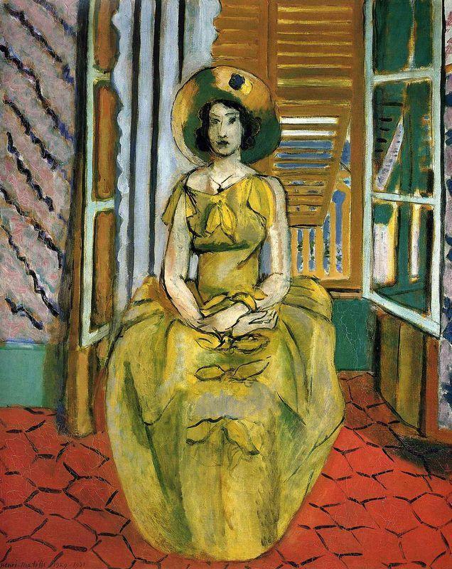 The Yellow Dress - Henri Matisse