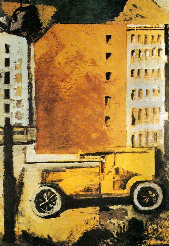 The yellow truck - Mario Sironi
