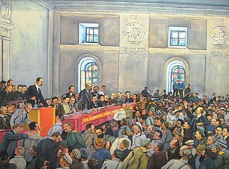 There is such a party! (Lenin on the 1st All-Russian Congress of Workers' and Soldiers'Deputies in Petrograd) - Konstantin Yuon