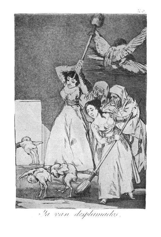 They already go plucked - Francisco Goya
