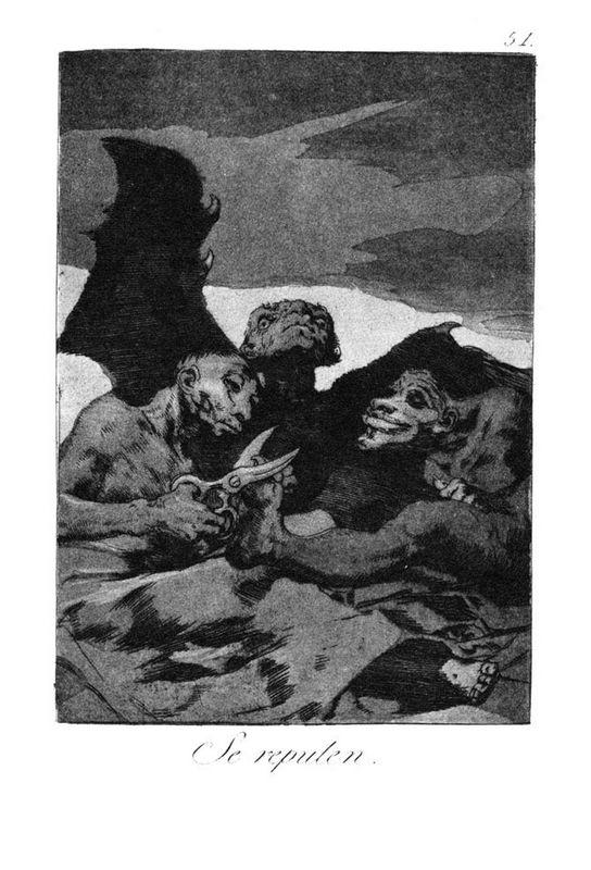 They spruce themselves up - Francisco Goya