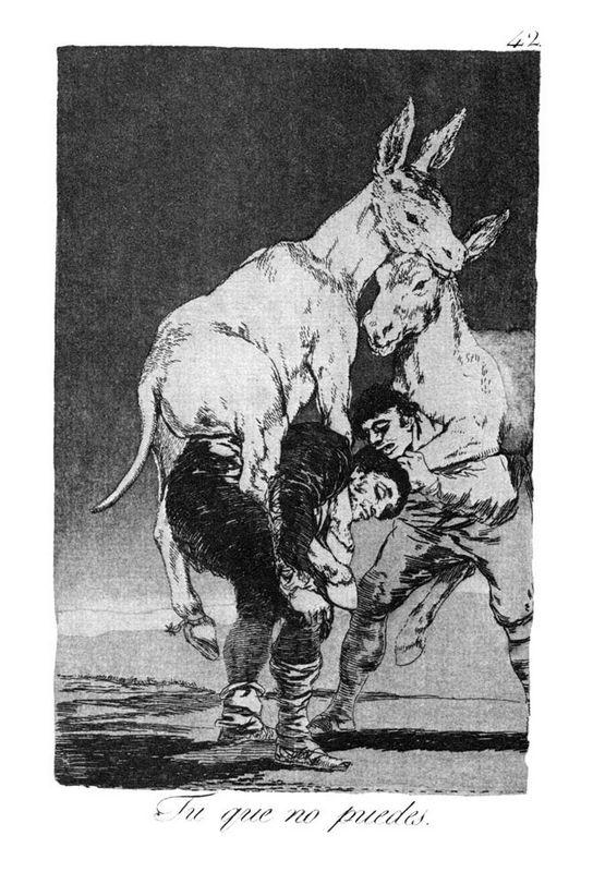 They who Cannot - Francisco Goya