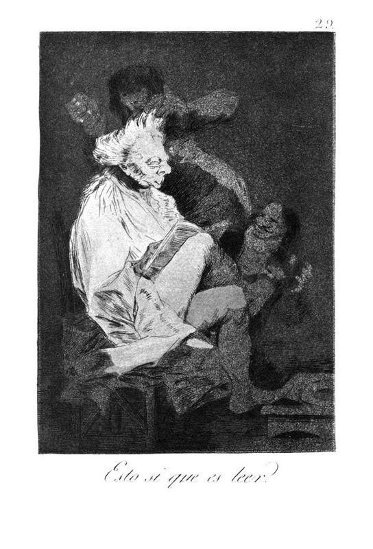 This certainly is reading - Francisco Goya