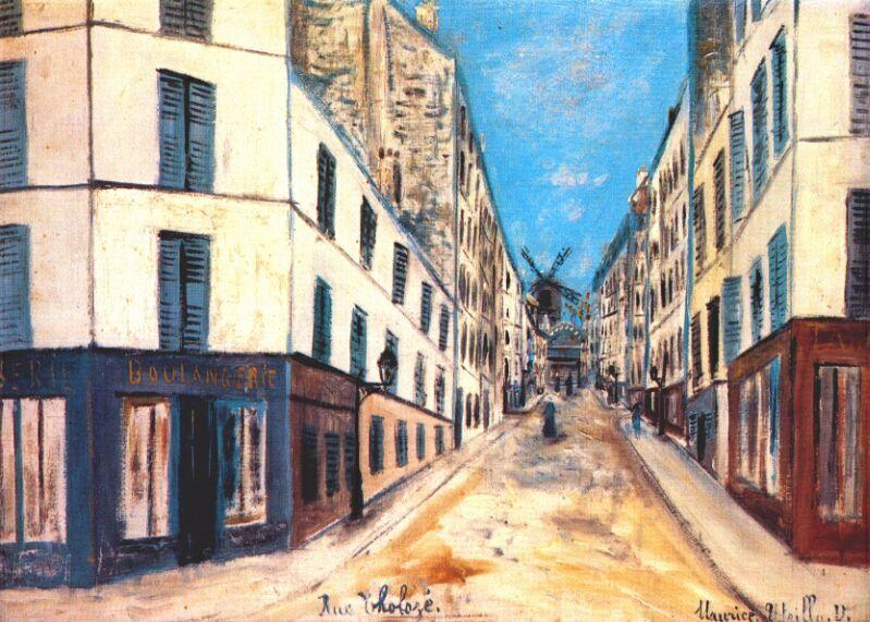Tholoze street - Maurice Utrillo