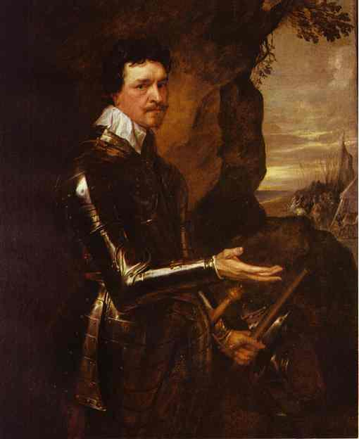 Thomas Wentworth, 1st Earl of Strafford in an Armor - Anthony van Dyck