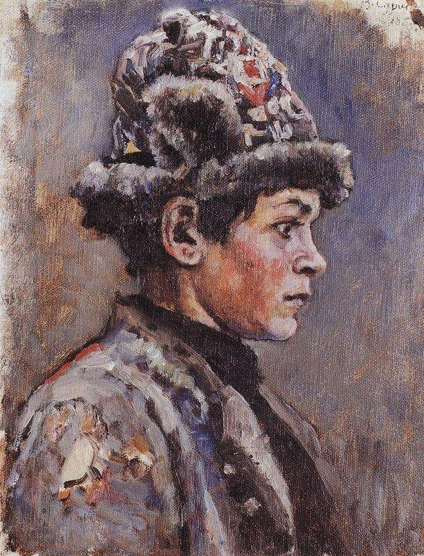 Thoughtful teenager - Vasily Surikov