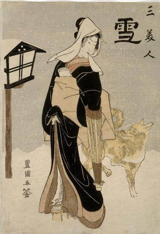 Three Beauties: Snow - Utagawa Toyokuni