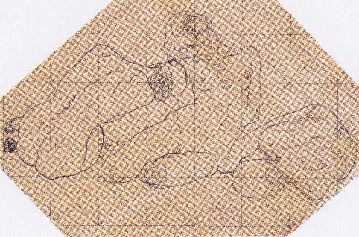 Three crouching women - Koloman Moser