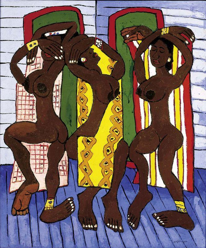 Three Dancers - William H. Johnson