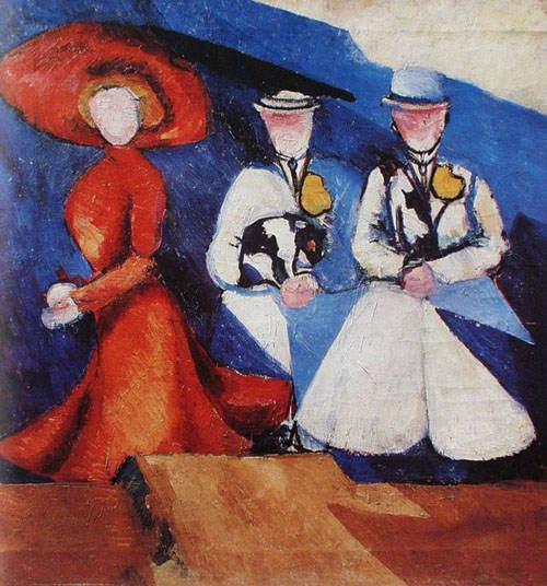 Three Female Figures - Aleksandra Ekster