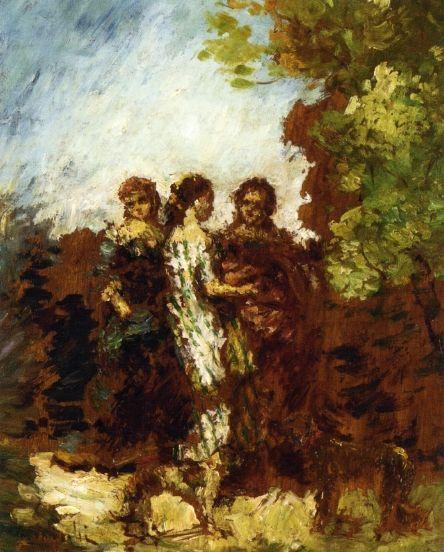 Three Friends - Adolphe Joseph Thomas Monticelli