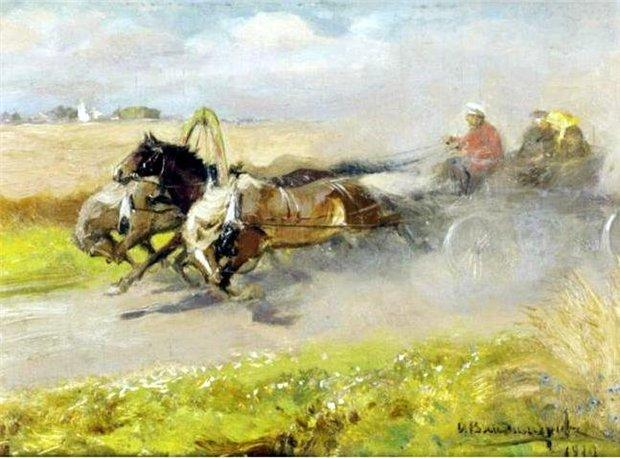 Three horses - Ivan Vladimirov