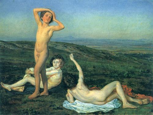 Three nude boys - Alexander Ivanov