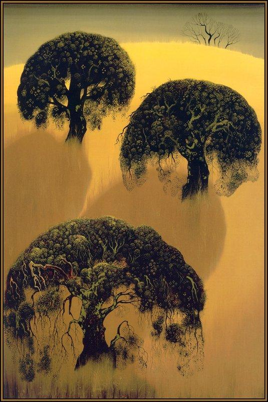 Three Oaks - Eyvind Earle