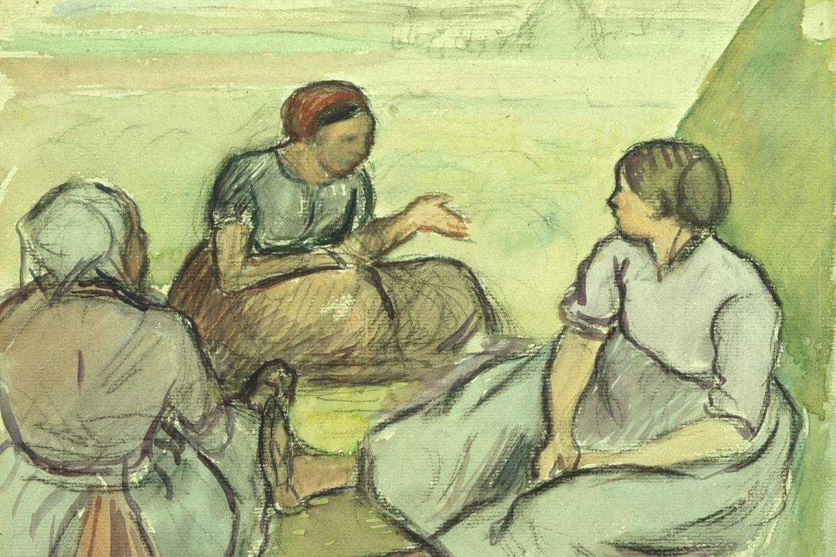 Three Peasant Women - Camille Pissarro