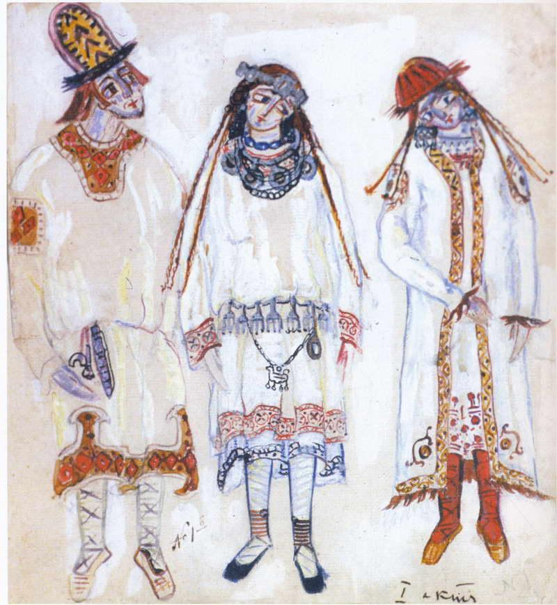 Three personages - Nicholas Roerich